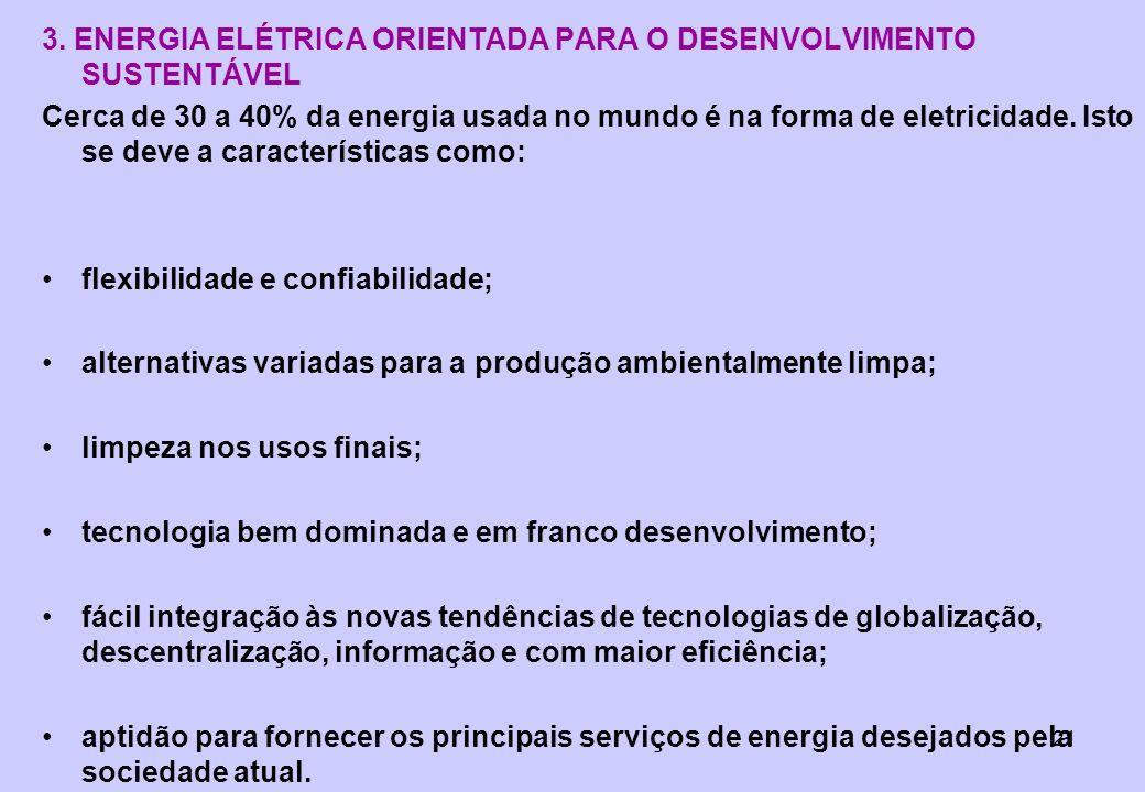 3. ENERGIA ELÉTRICA ORIENTADA PARA O DESENVOLVIMENTO SUSTENTÁVEL
