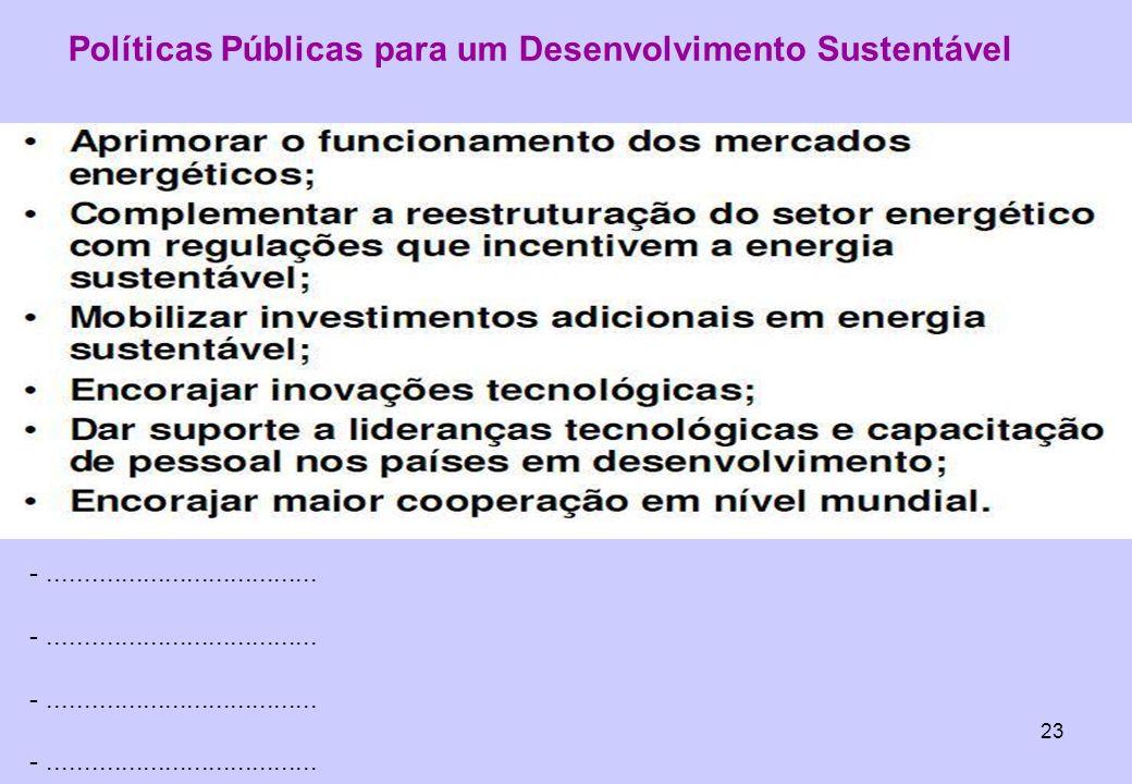 Políticas Públicas para um Desenvolvimento Sustentável