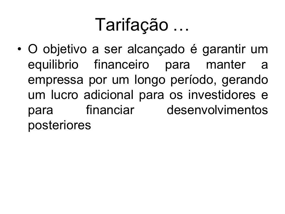 Tarifação …