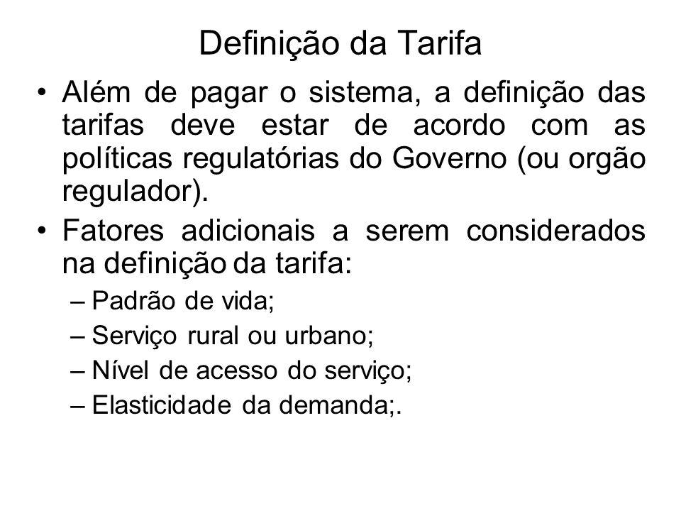 Definição da Tarifa