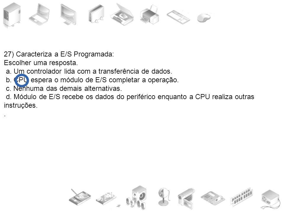 27) Caracteriza a E/S Programada: