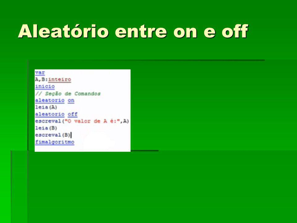 Aleatório entre on e off