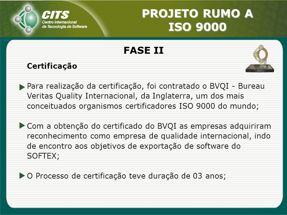FASE II Certificação.