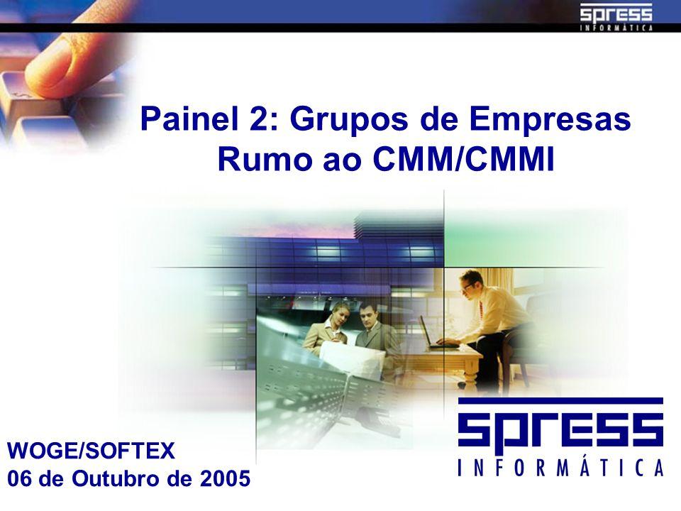 Painel 2: Grupos de Empresas Rumo ao CMM/CMMI