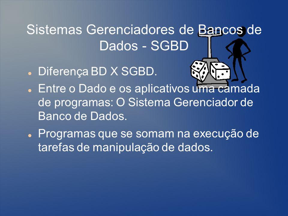 Sistemas Gerenciadores de Bancos de Dados - SGBD