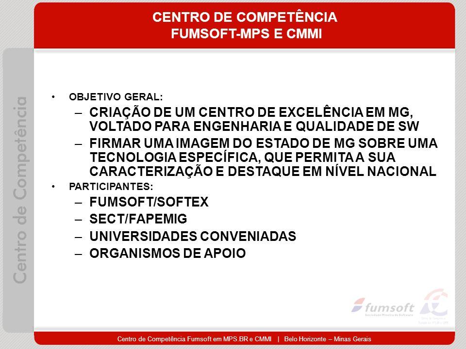 CENTRO DE COMPETÊNCIA FUMSOFT-MPS E CMMI