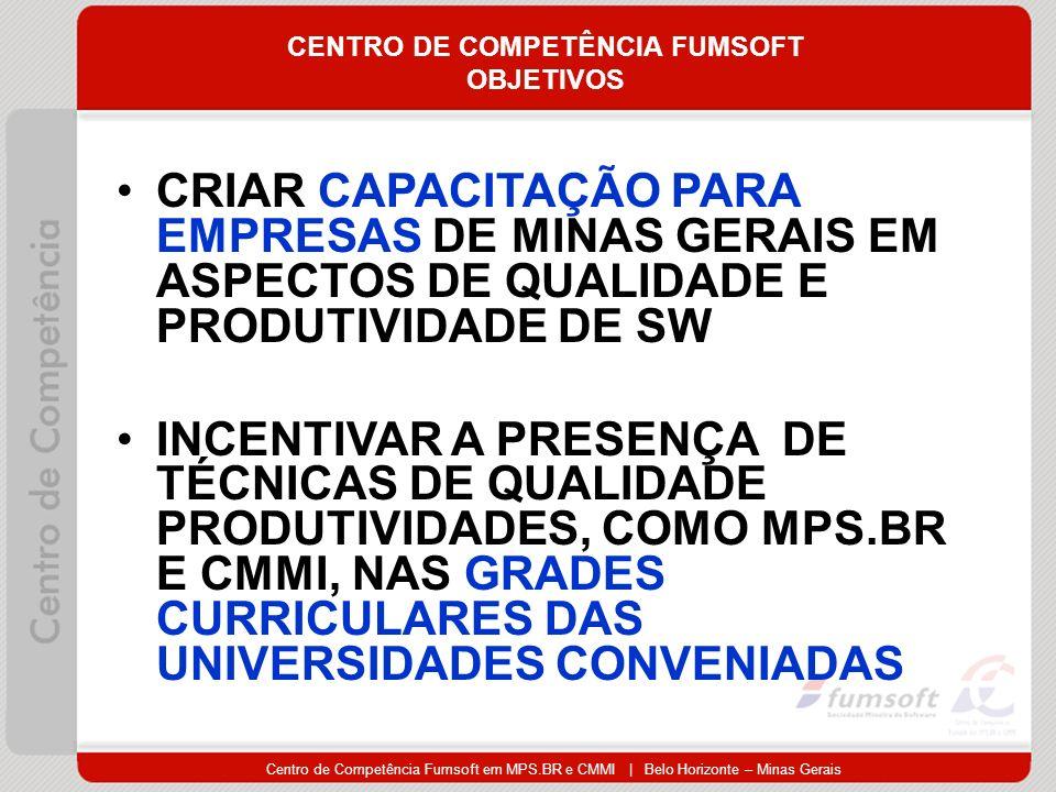 CENTRO DE COMPETÊNCIA FUMSOFT OBJETIVOS