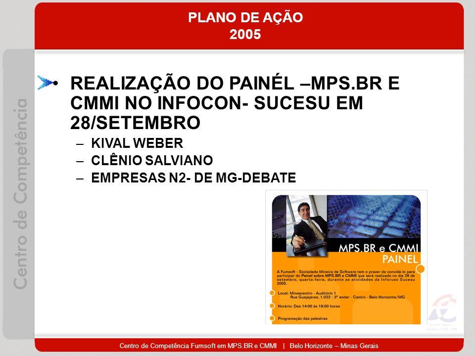 REALIZAÇÃO DO PAINÉL –MPS.BR E CMMI NO INFOCON- SUCESU EM 28/SETEMBRO
