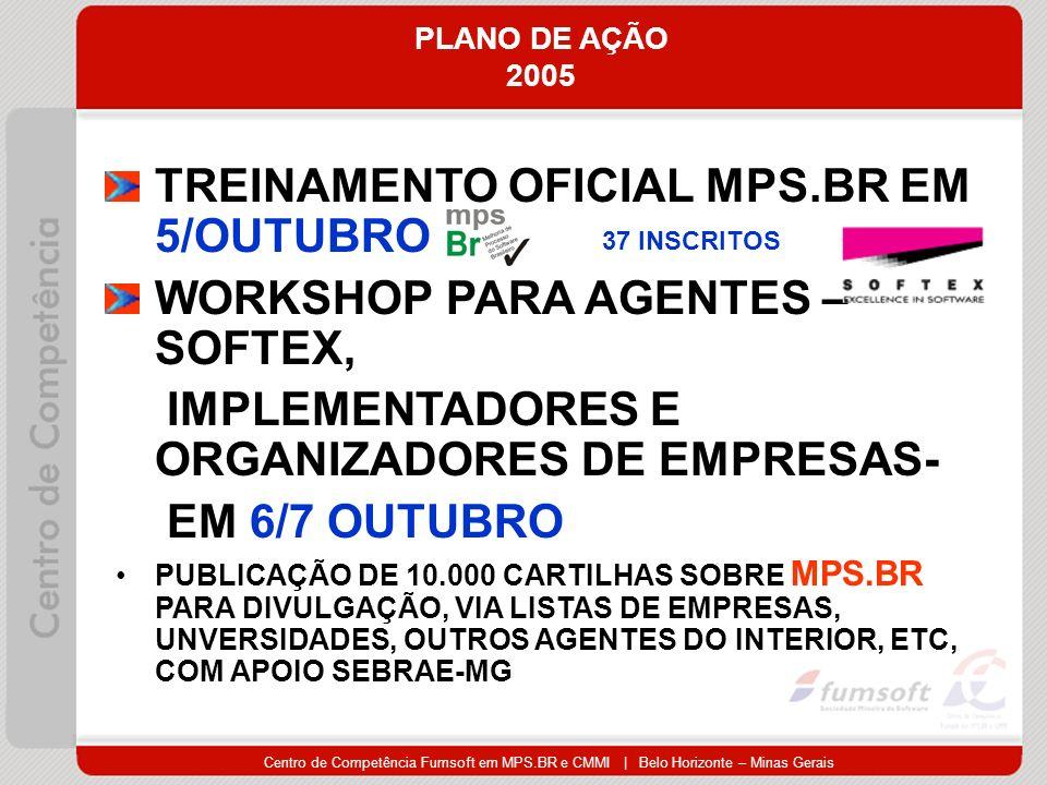 TREINAMENTO OFICIAL MPS.BR EM 5/OUTUBRO WORKSHOP PARA AGENTES –SOFTEX,