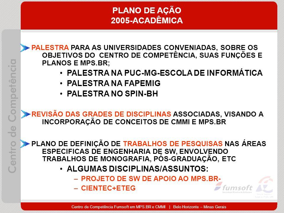 PLANO DE AÇÃO 2005-ACADÊMICA