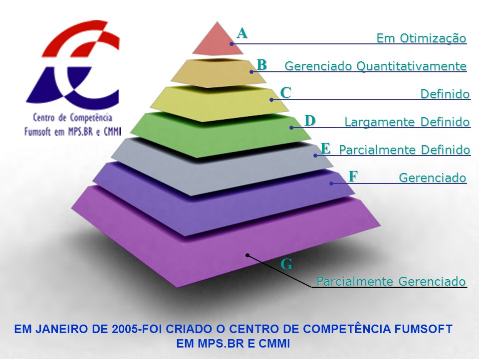 EM JANEIRO DE 2005-FOI CRIADO O CENTRO DE COMPETÊNCIA FUMSOFT