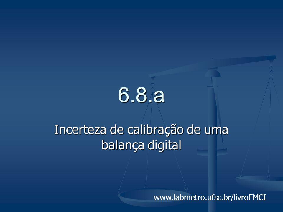 Incerteza de calibração de uma balança digital