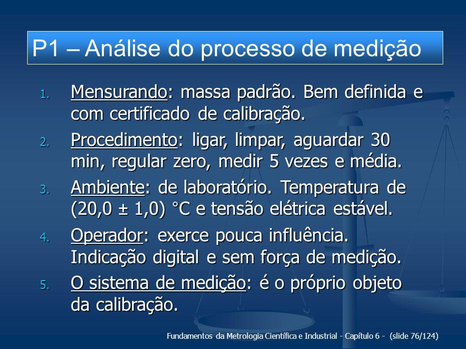 P1 – Análise do processo de medição