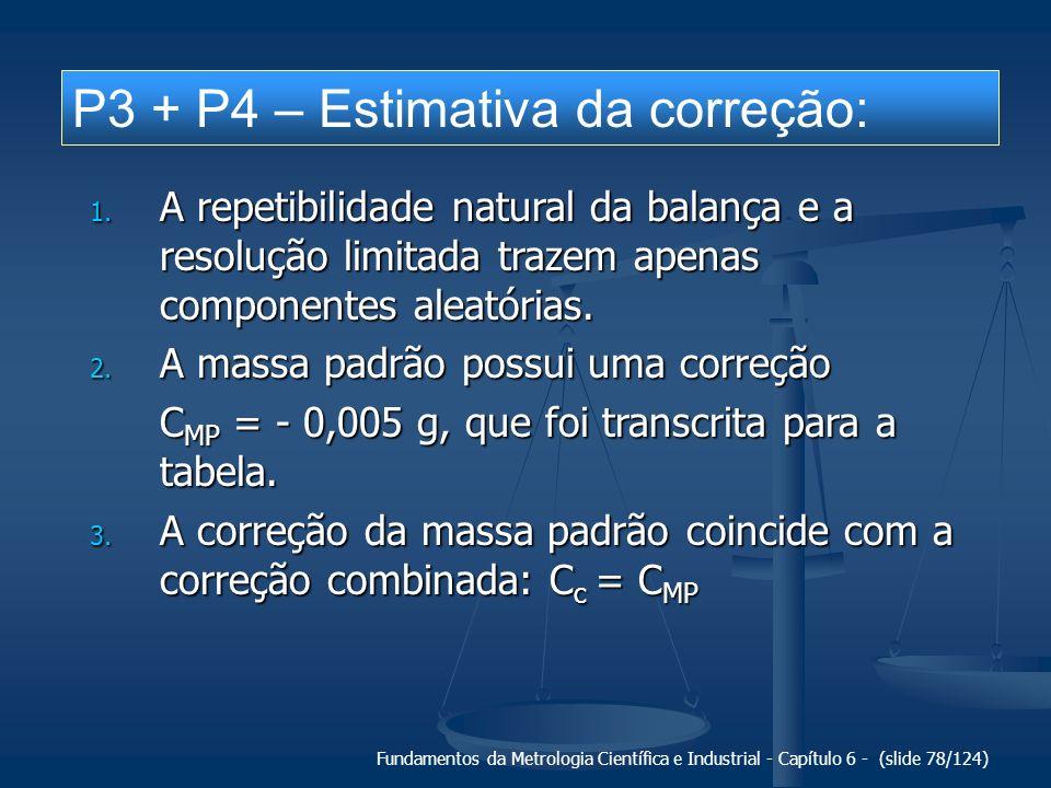 P3 + P4 – Estimativa da correção: