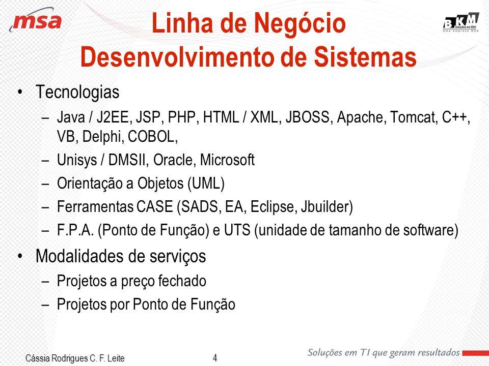 Linha de Negócio Desenvolvimento de Sistemas