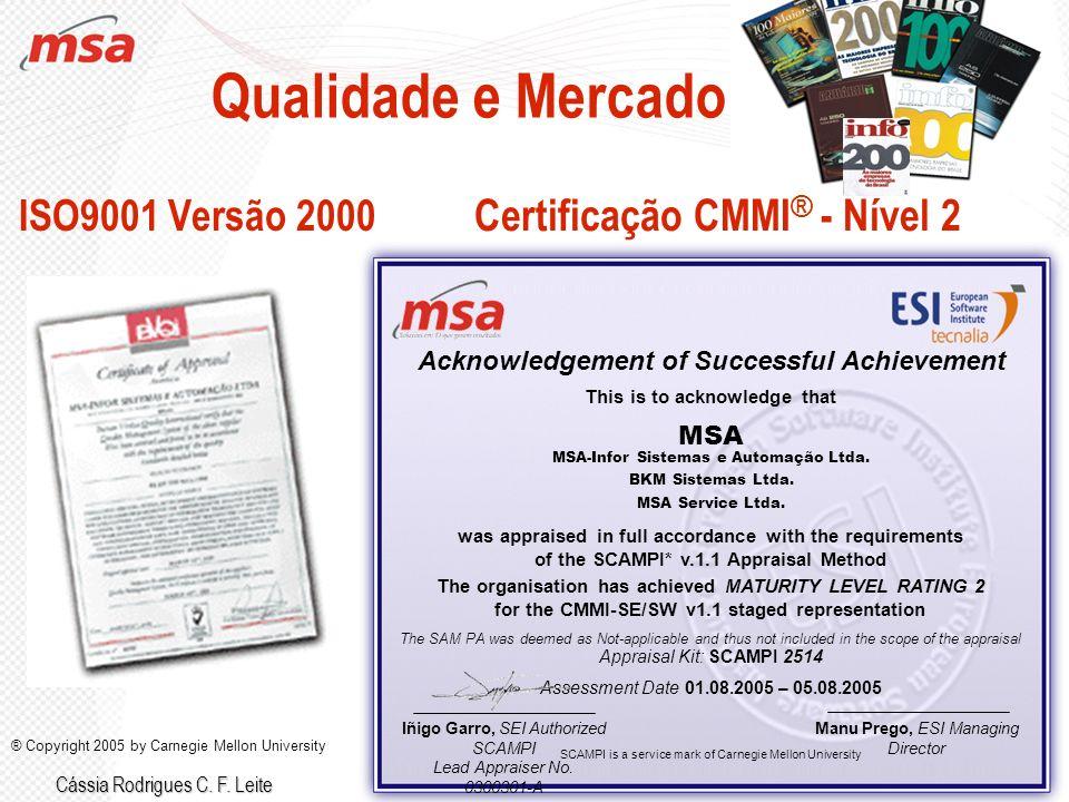 Certificação CMMI® - Nível 2