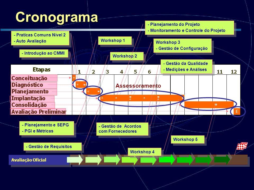 Cronograma Assessoramento - Planejamento do Projeto