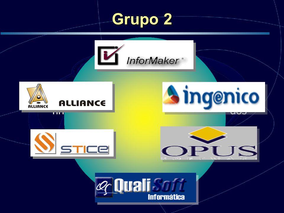 Grupo 2 Início em Outubro de 2004, encontra-se na finalização da etapa de implantação dos processos