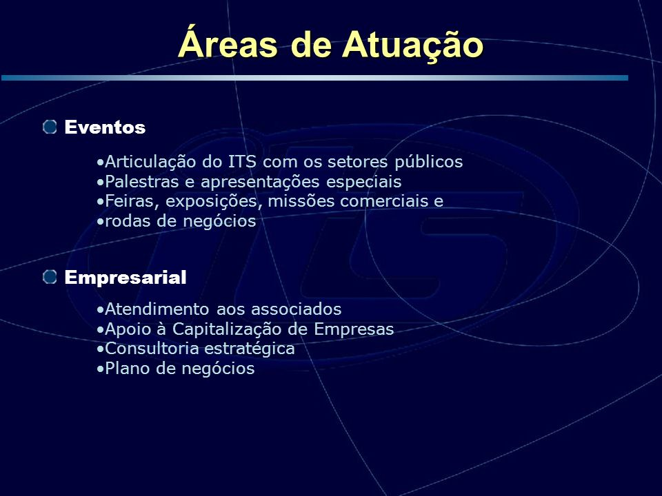 Áreas de Atuação Eventos Empresarial
