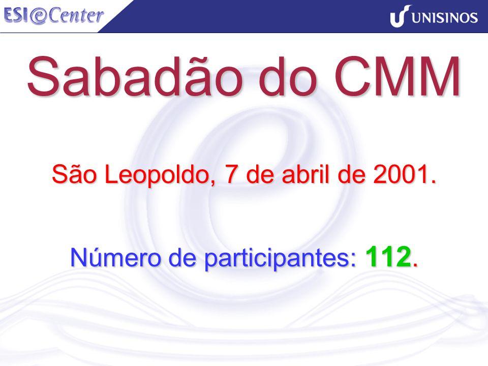 São Leopoldo, 7 de abril de 2001. Número de participantes: 112.