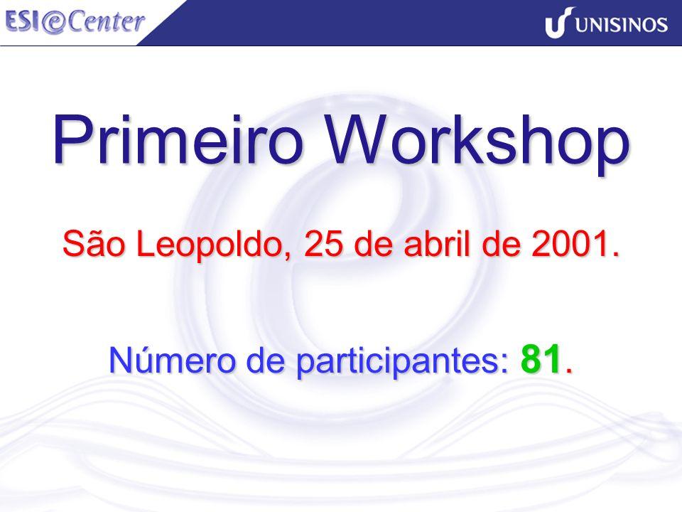 São Leopoldo, 25 de abril de 2001. Número de participantes: 81.
