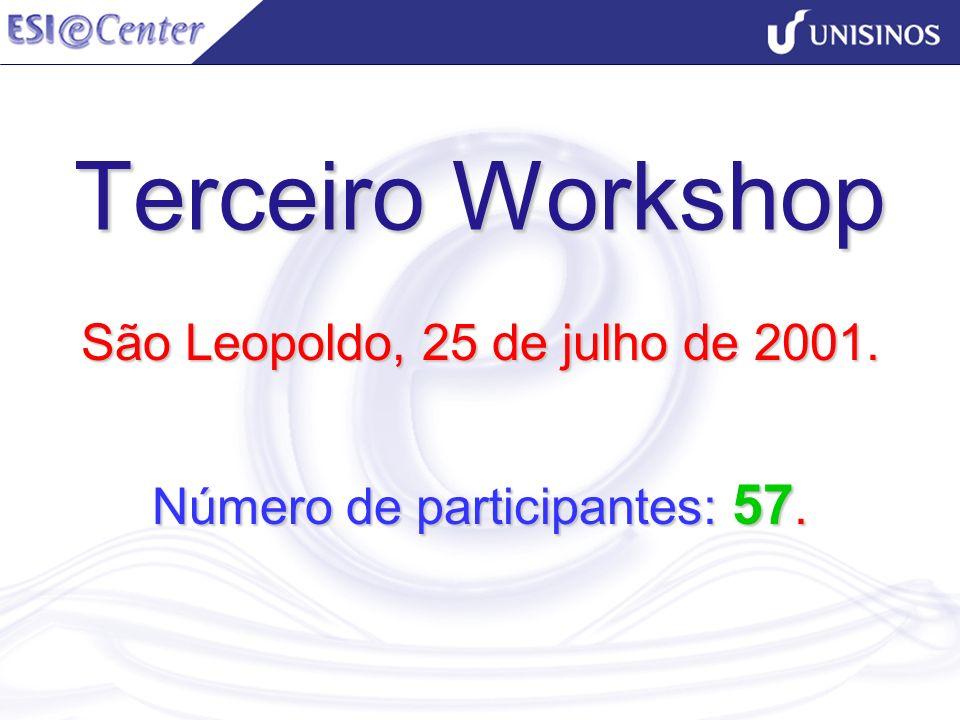 São Leopoldo, 25 de julho de 2001. Número de participantes: 57.