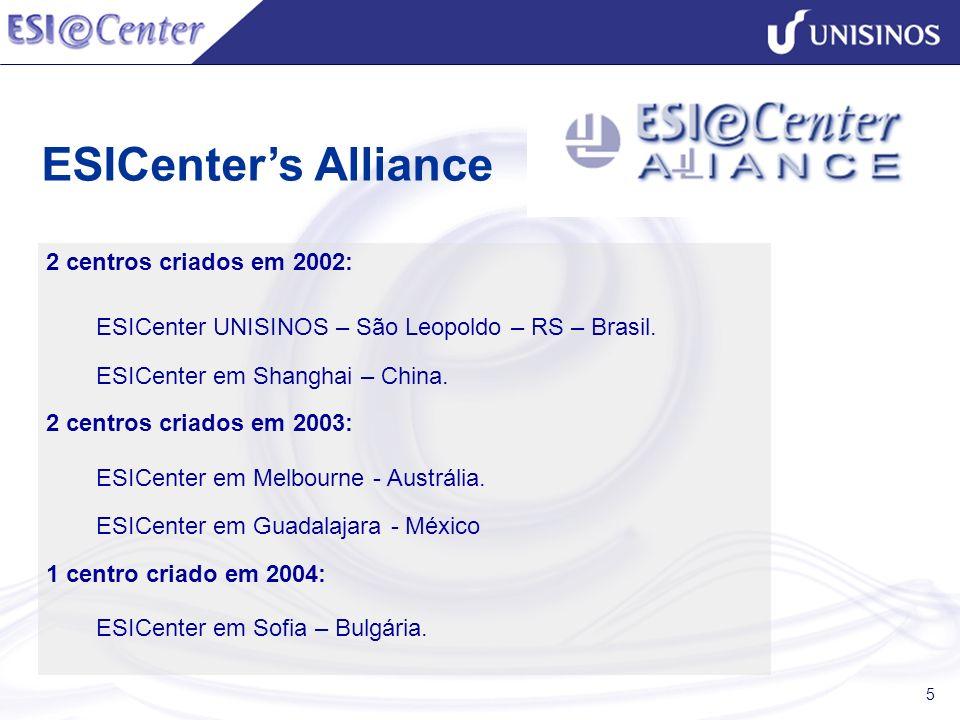 ESICenter's Alliance 2 centros criados em 2002: