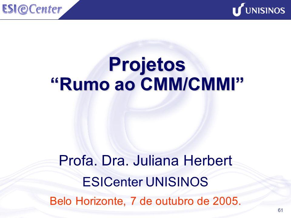 Projetos Rumo ao CMM/CMMI