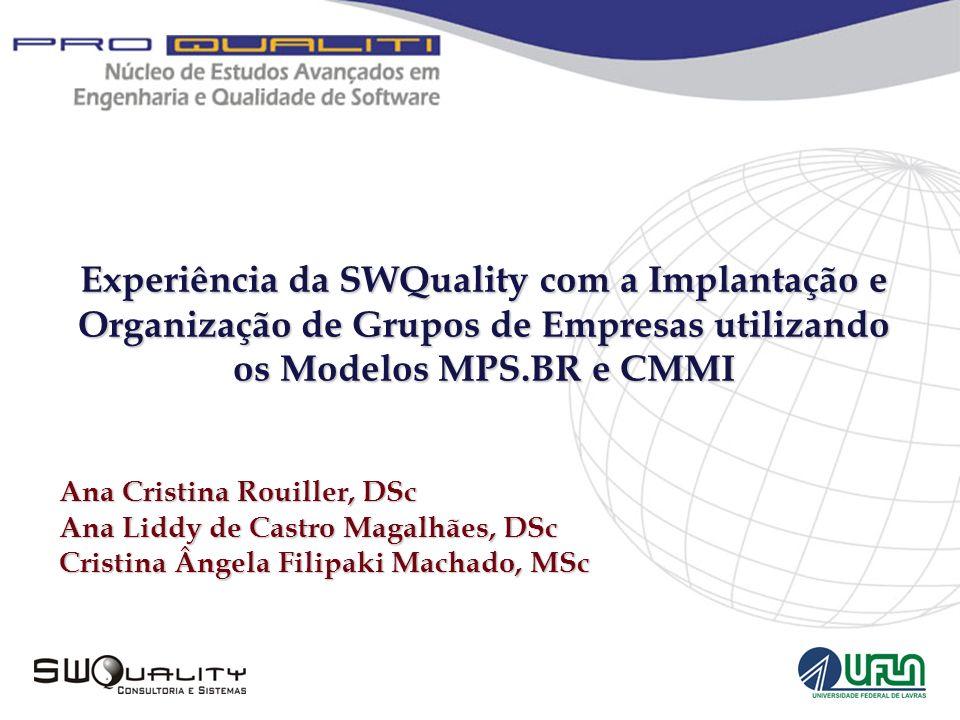 Experiência da SWQuality com a Implantação e Organização de Grupos de Empresas utilizando os Modelos MPS.BR e CMMI