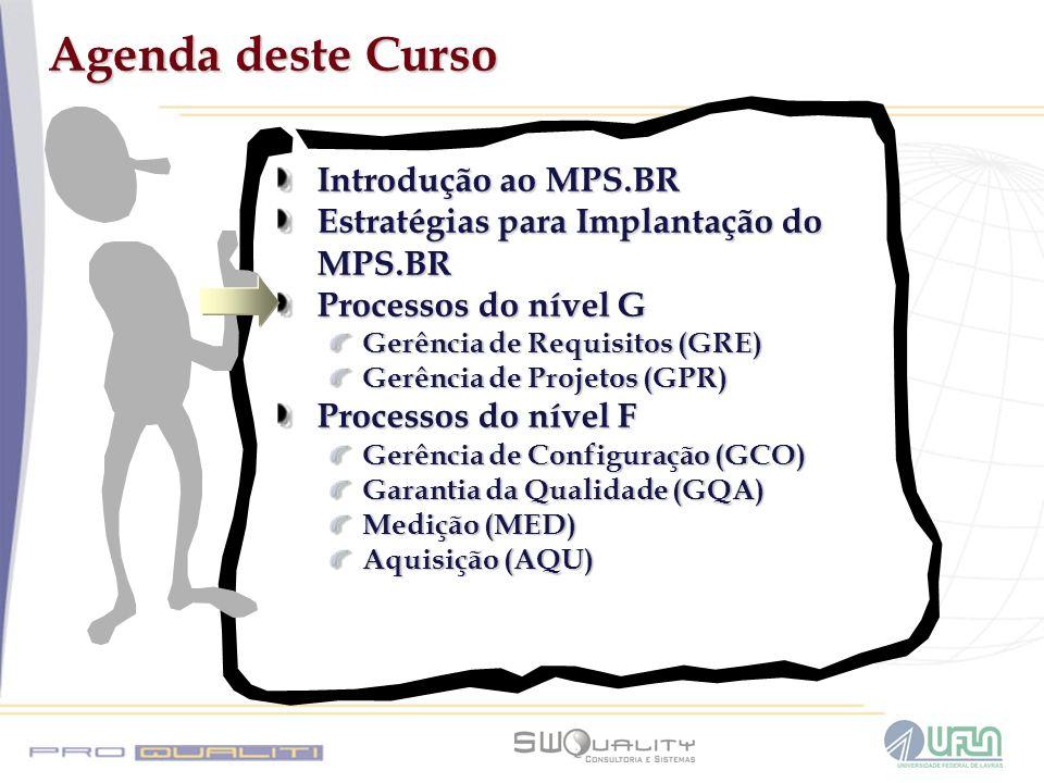 Agenda deste Curso Introdução ao MPS.BR
