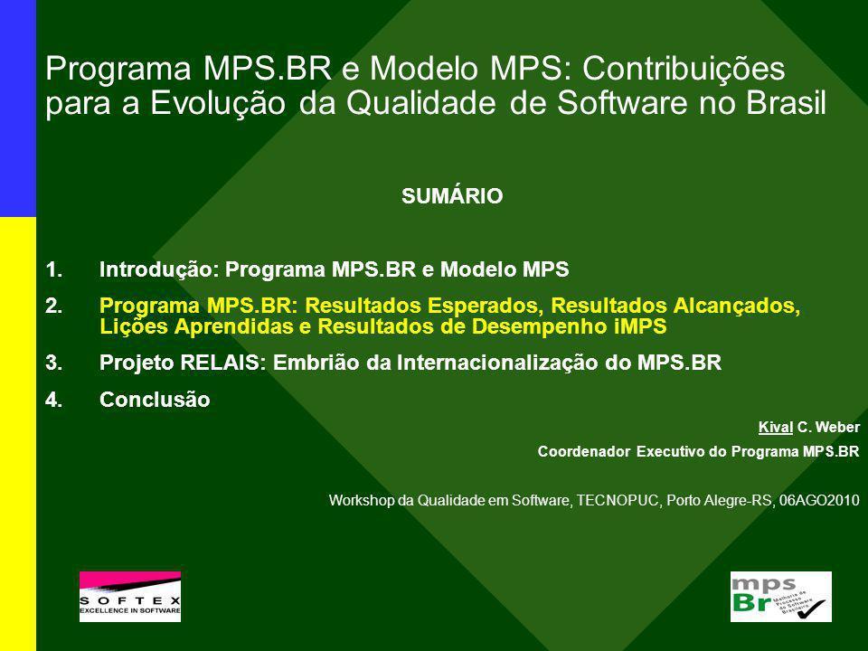 Programa MPS.BR e Modelo MPS: Contribuições para a Evolução da Qualidade de Software no Brasil