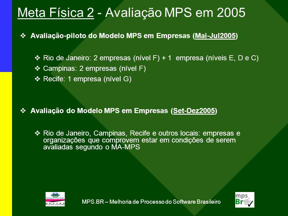 Meta Física 2 - Avaliação MPS em 2005