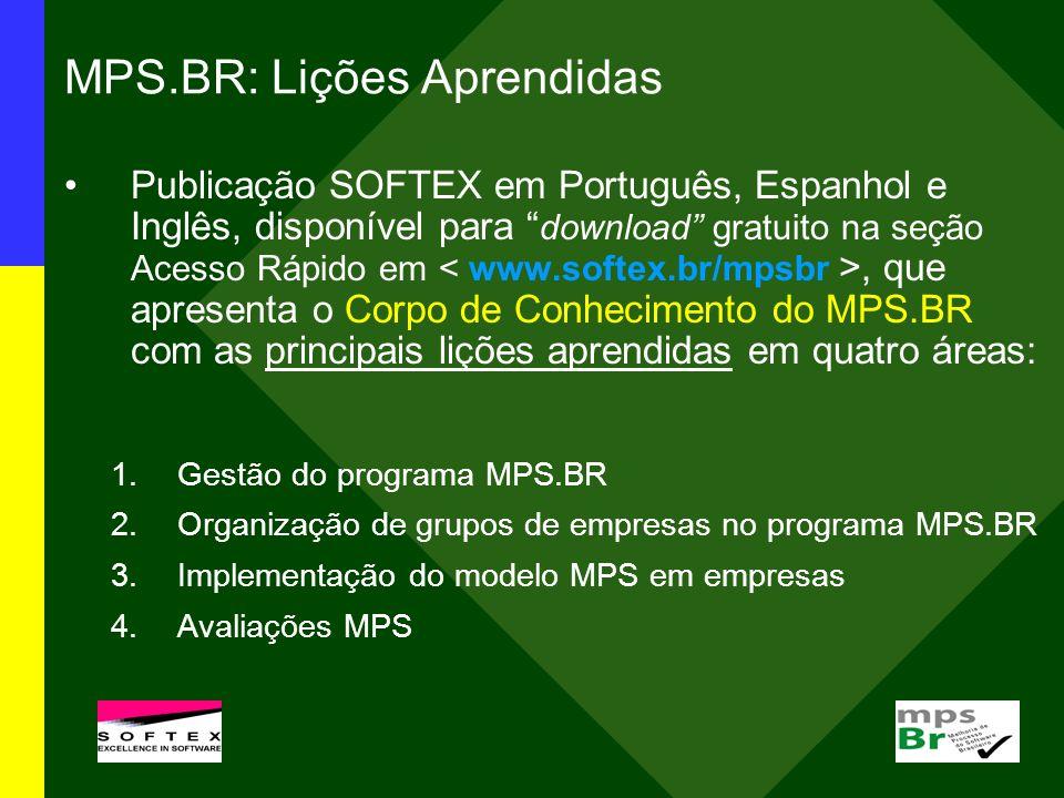 MPS.BR: Lições Aprendidas