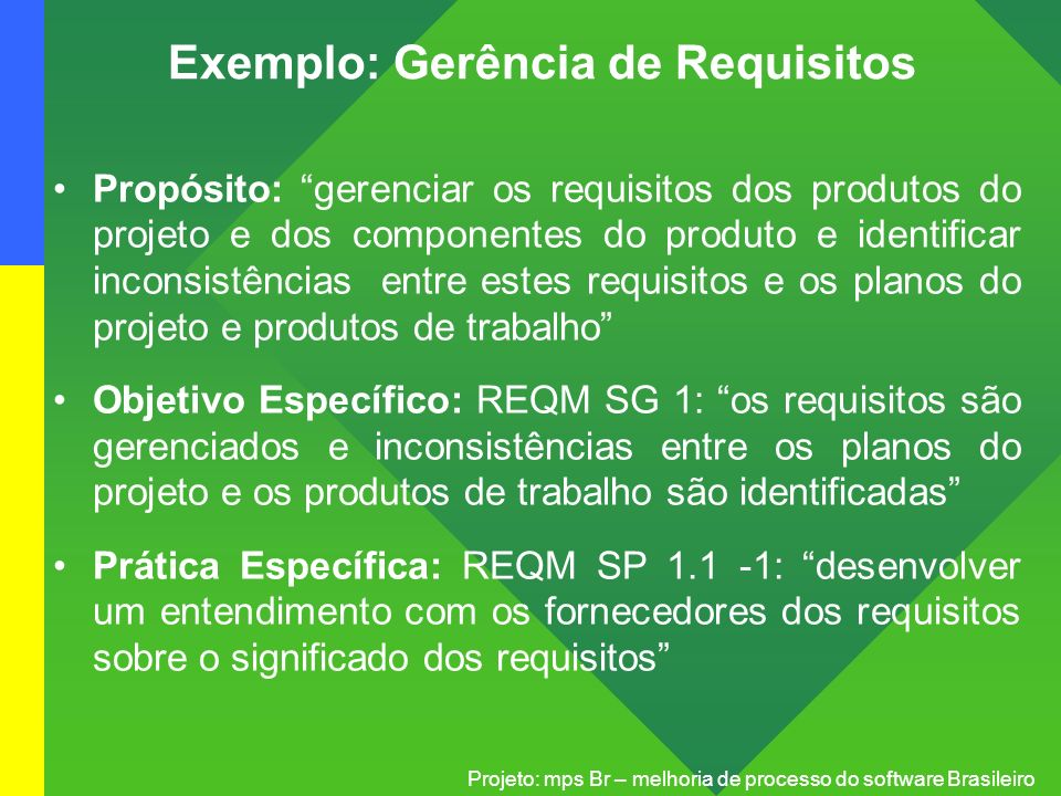 Exemplo: Gerência de Requisitos