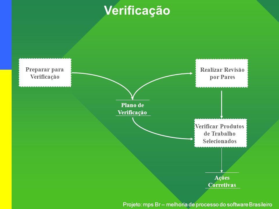 Verificação Preparar para Verificação Realizar Revisão por Pares