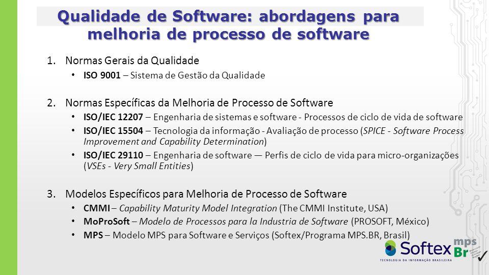Qualidade de Software: abordagens para melhoria de processo de software