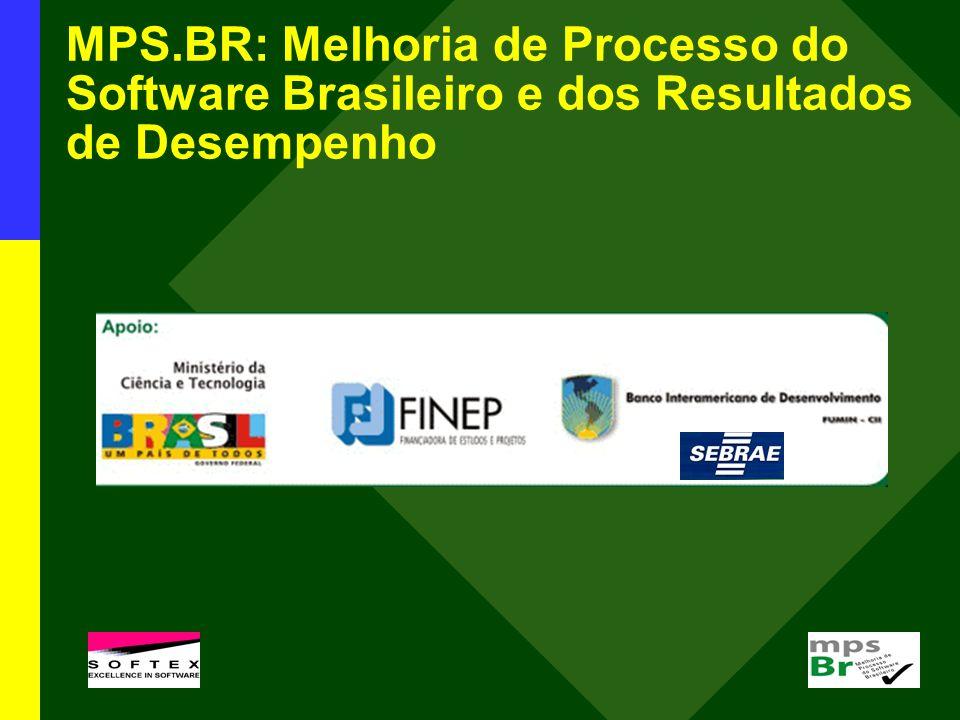 MPS.BR: Melhoria de Processo do Software Brasileiro e dos Resultados de Desempenho