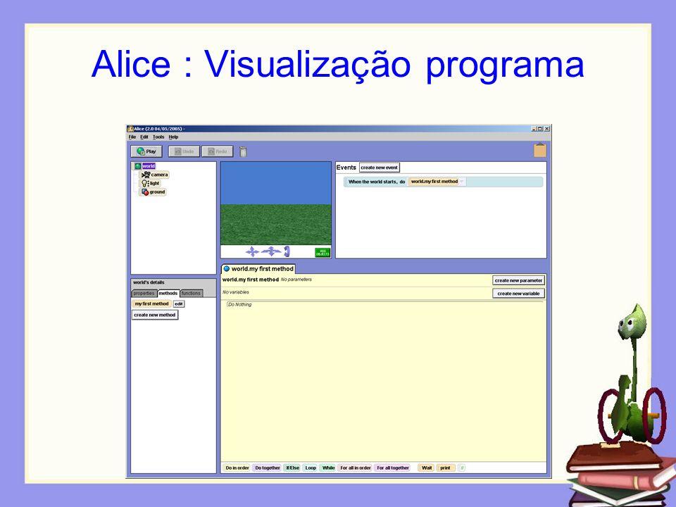 Alice : Visualização programa