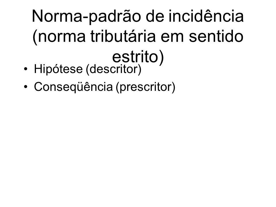 Norma-padrão de incidência (norma tributária em sentido estrito)