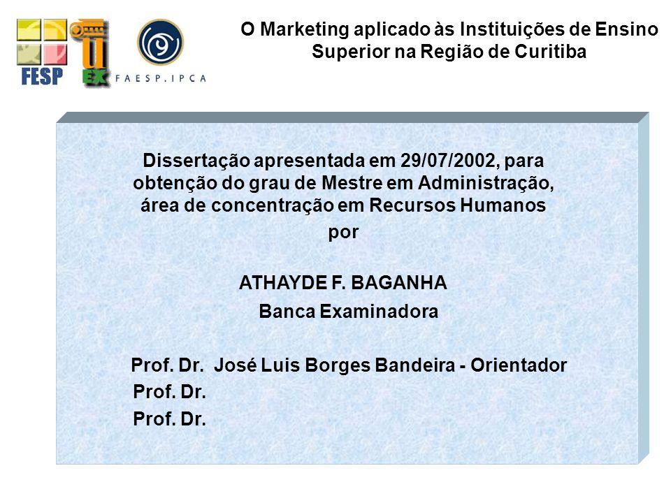 Prof. Dr. José Luis Borges Bandeira - Orientador