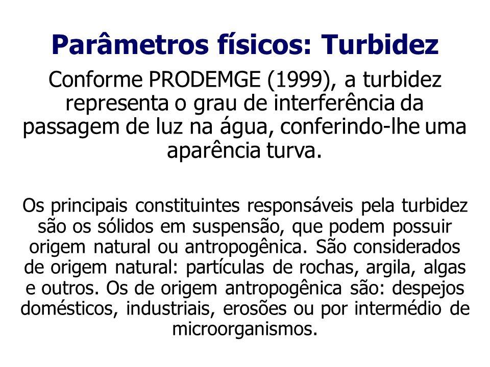 Parâmetros físicos: Turbidez