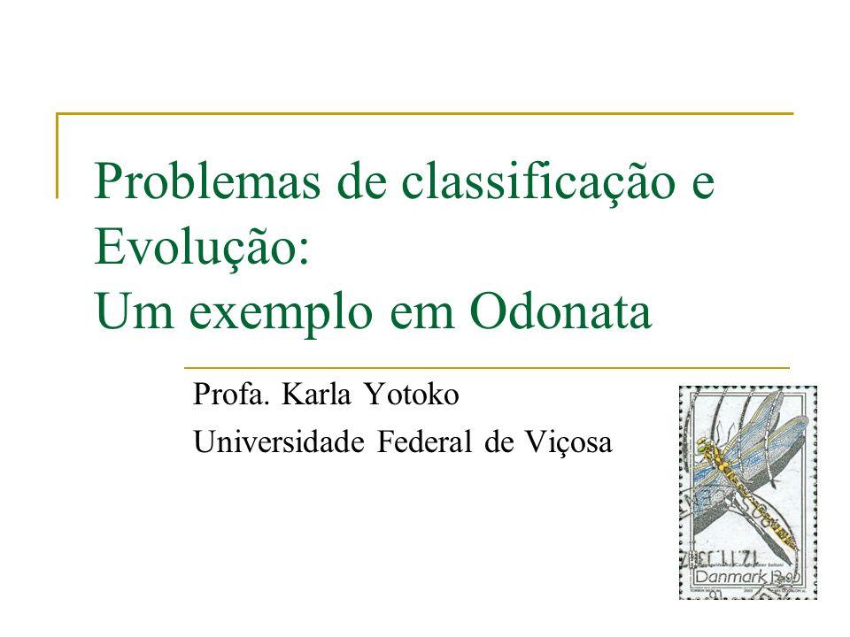 Problemas de classificação e Evolução: Um exemplo em Odonata