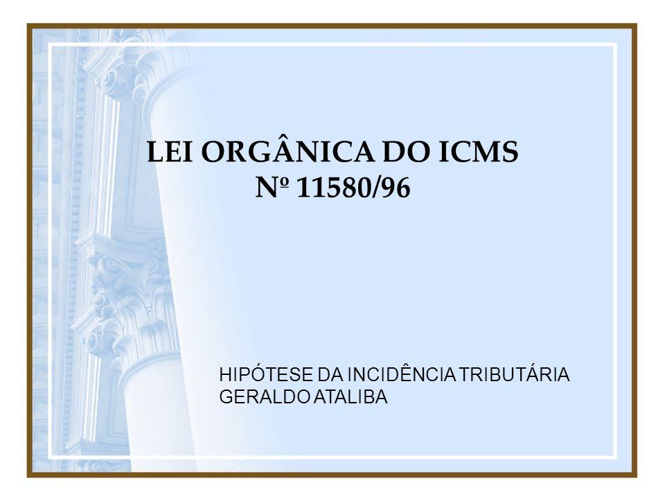 LEI ORGÂNICA DO ICMS Nº 11580/96