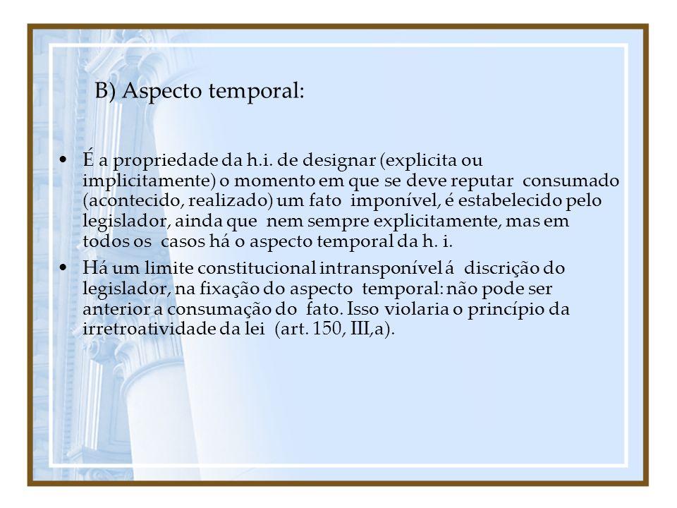 B) Aspecto temporal: