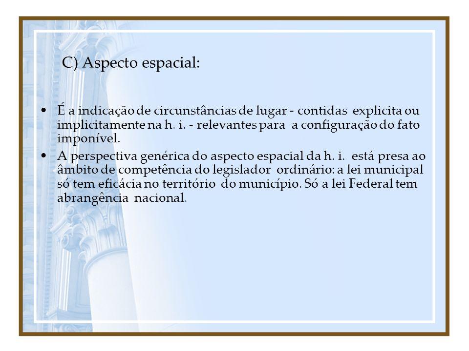 C) Aspecto espacial: