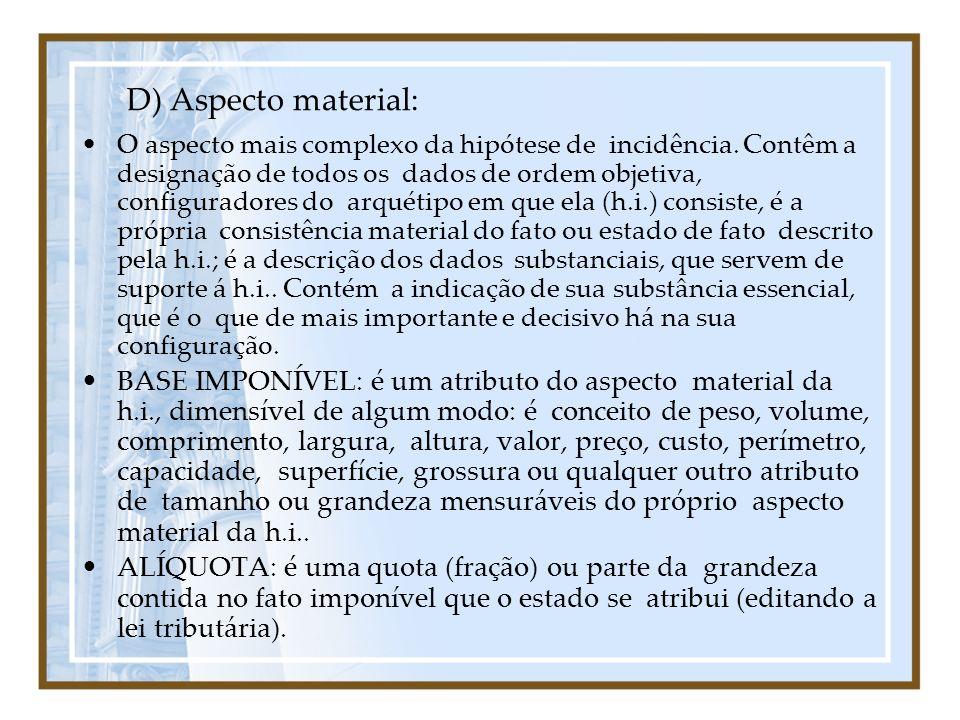 D) Aspecto material: