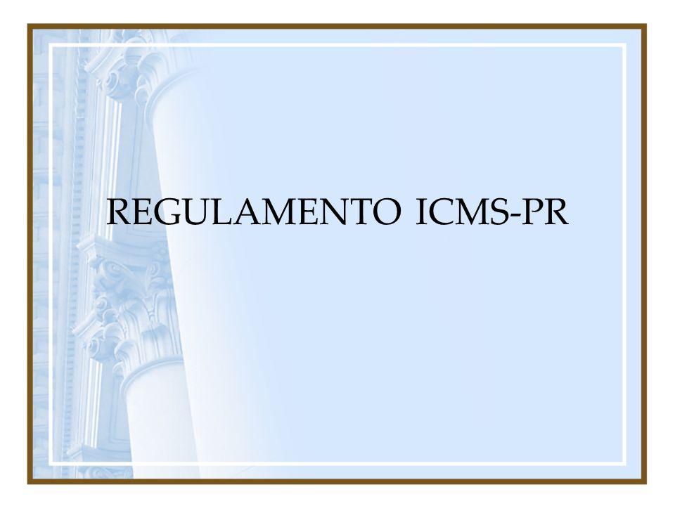 REGULAMENTO ICMS-PR