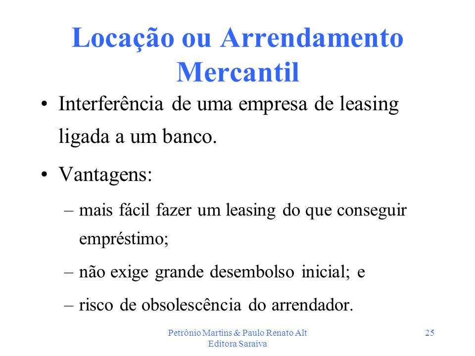 Locação ou Arrendamento Mercantil