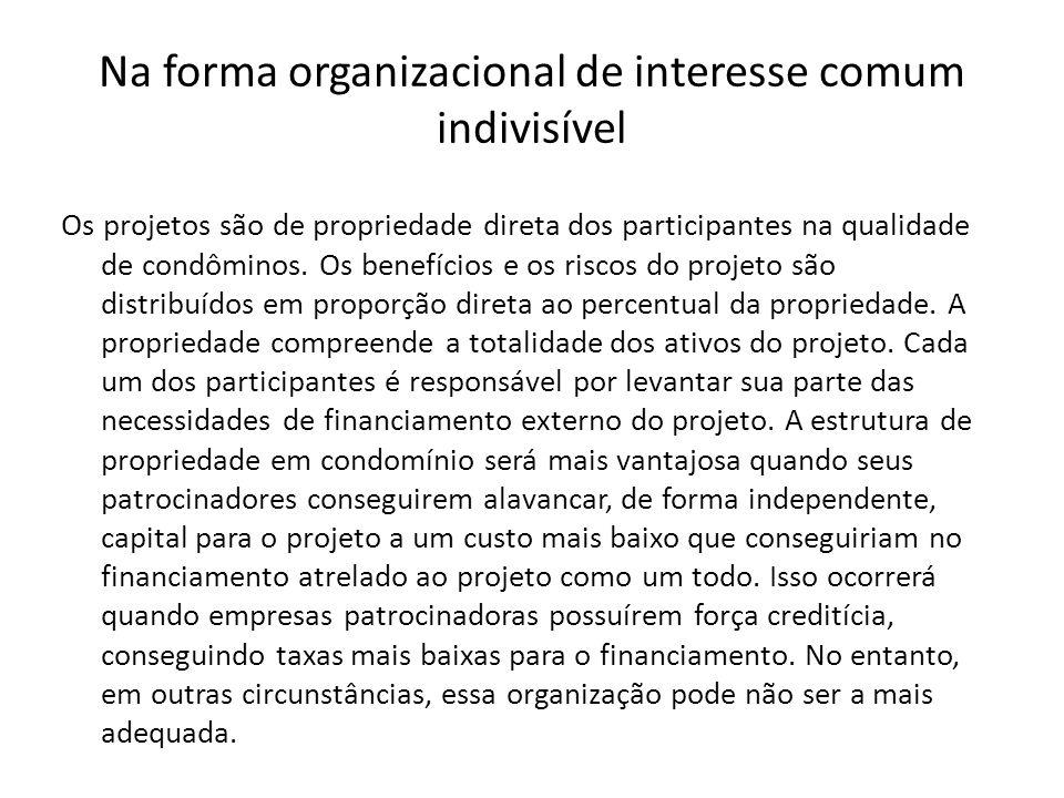 Na forma organizacional de interesse comum indivisível