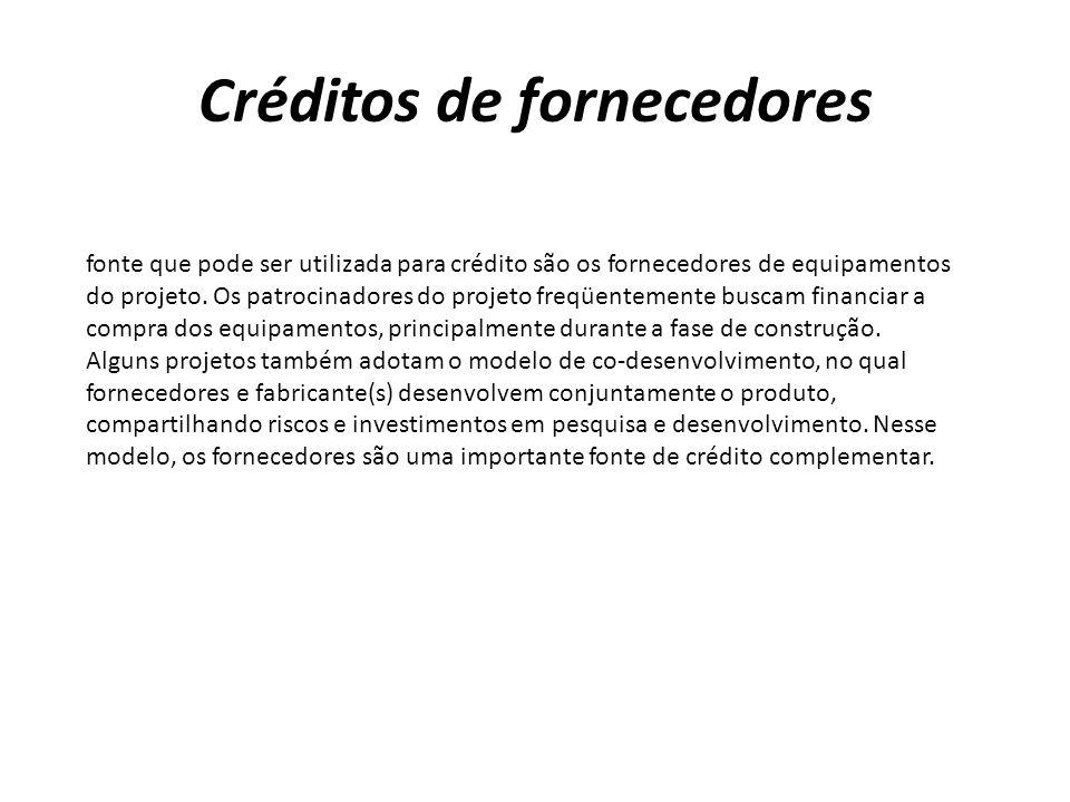 Créditos de fornecedores
